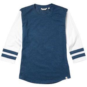 Cotopaxi Juego Raglan T-Shirt - Women's - Blue and White - Medium